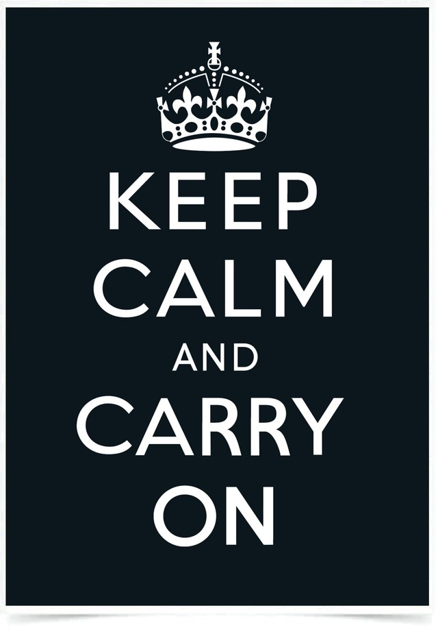 Imagem do Quadro Poster Frases Keep Calm Carry Black