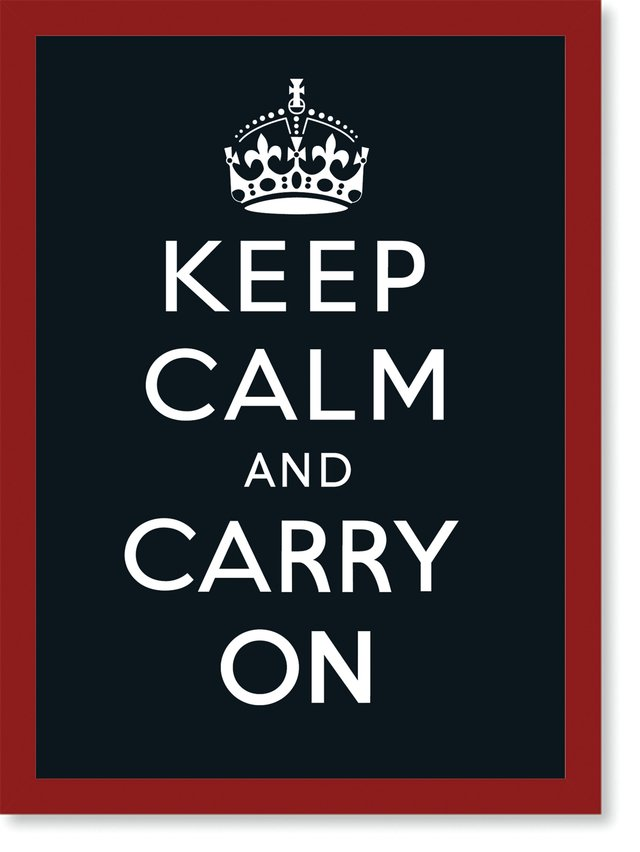Quadro Poster Frases Keep Calm Carry Black - loja online