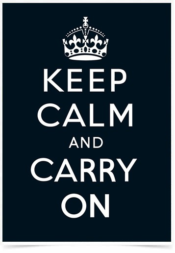 Poster Frases Keep Calm Carry Black - Decor10