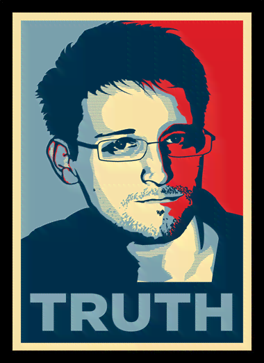 Quadro Poster Art Digital Edward Snowden