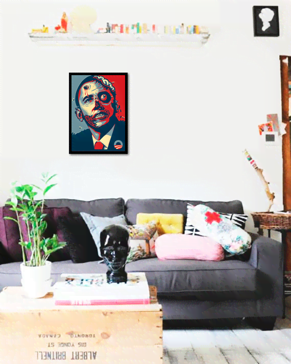 Quadro Poster Art Digital Obama Zumbi - comprar online