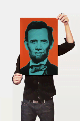 Poster Art Digital Abraham Lincoln - loja online