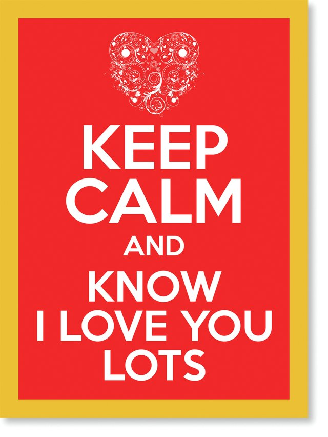 Quadro Poster Frases Keep Calm Lots - comprar online