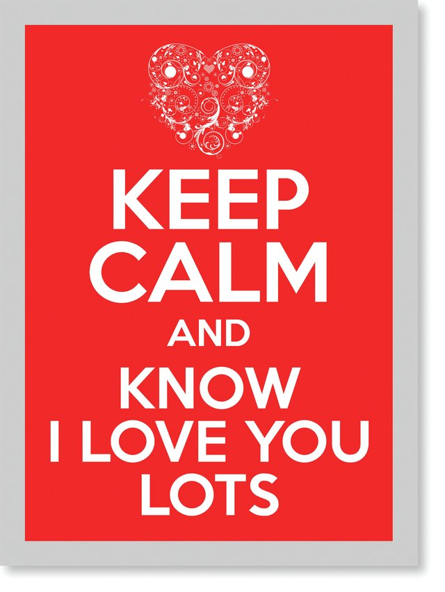 Quadro Poster Frases Keep Calm Lots na internet