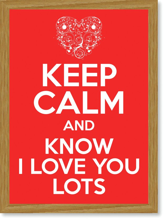 Quadro Poster Frases Keep Calm Lots - Decor10