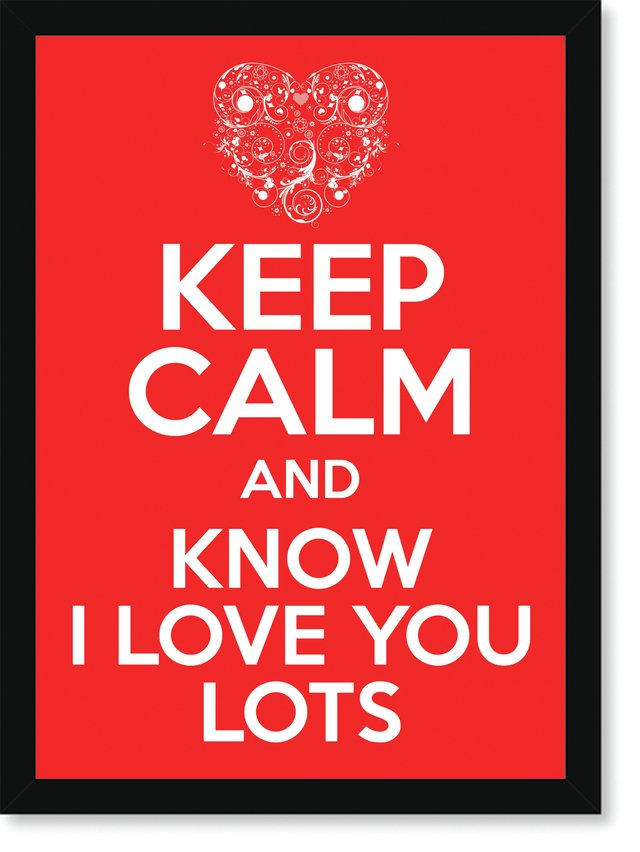 Quadro Poster Frases Keep Calm Lots