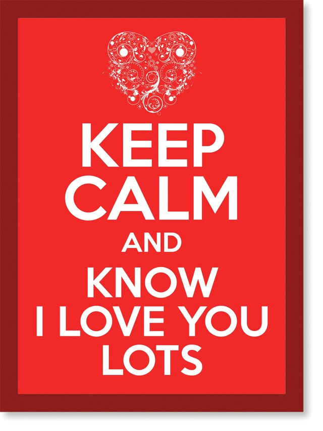 Quadro Poster Frases Keep Calm Lots - loja online