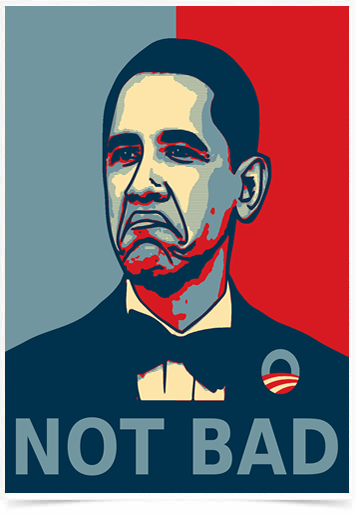 Poster Art Digital Obama Not Bad