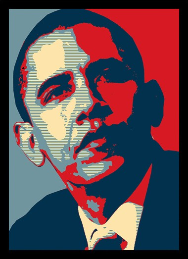 Quadro Poster Art Digital Obama