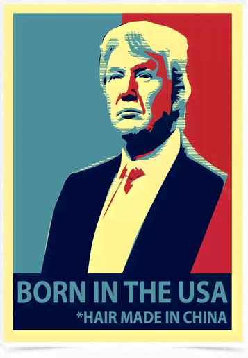 Poster Art Digital Donald Trump