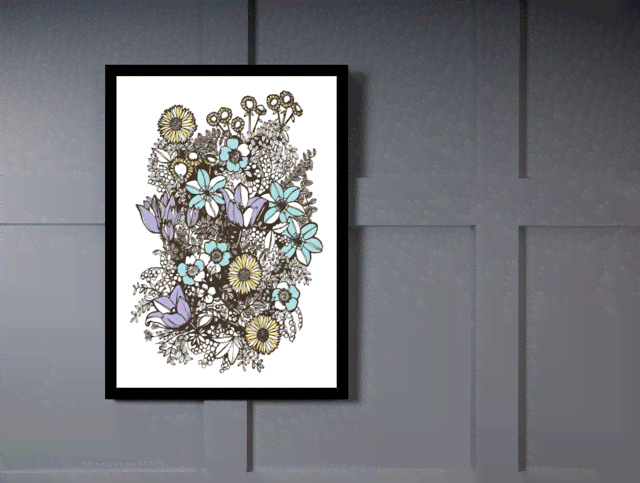 Quadro Poster Art Digital Flowers Overgrowth na internet