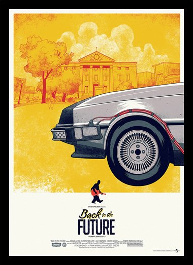 Quadro Poster Cinema Back to the Future Delorean Frente