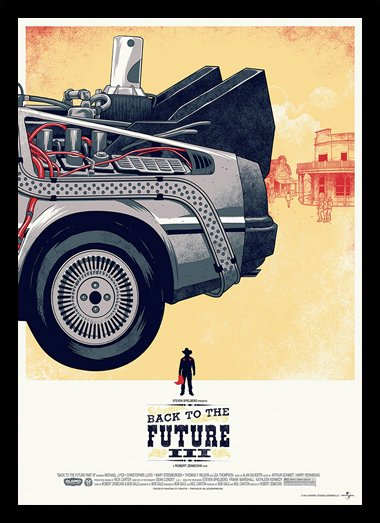 Quadro Poster Cinema Back to the Future Delorean Traseira