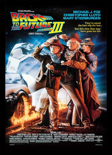 Quadro Poster Cinema Back to the Future 3