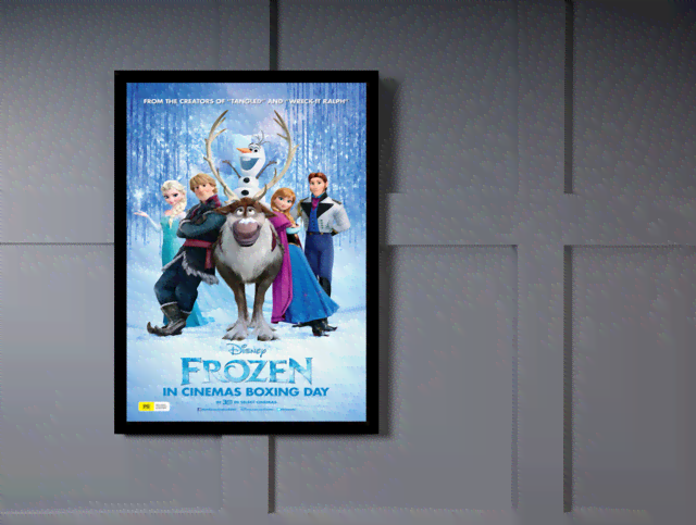 Quadro Poster Cinema Frozen 1 na internet