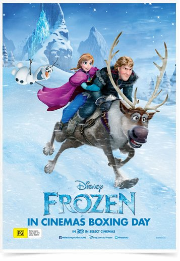 Poster Cinema Frozen 4