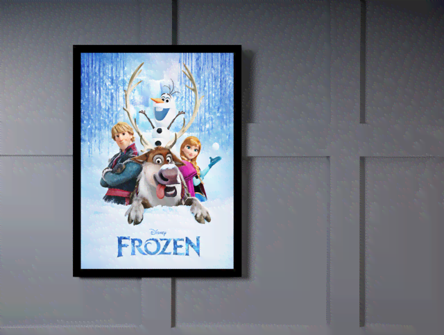Quadro Poster Cinema Frozen 6 na internet