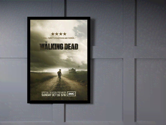 Quadro Poster Cinema The Walking Dead 5 na internet