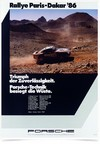 Poster Carros Porsche Rallye Paris Dakar 86 - Decor10