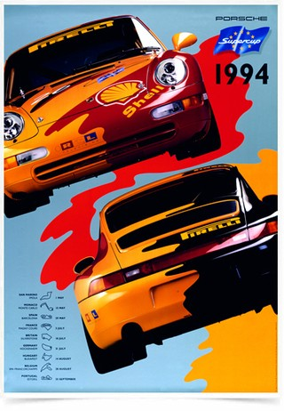 Poster Carros Porsche Supercup 1994 - Decor10