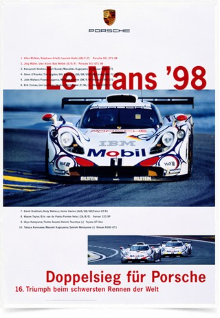 Poster Carros Porsche Le Mans 98 - Decor10