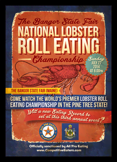 Quadro Poster Cozinha National Lobster Roll Eating