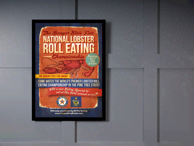 Quadro Poster Cozinha National Lobster Roll Eating na internet