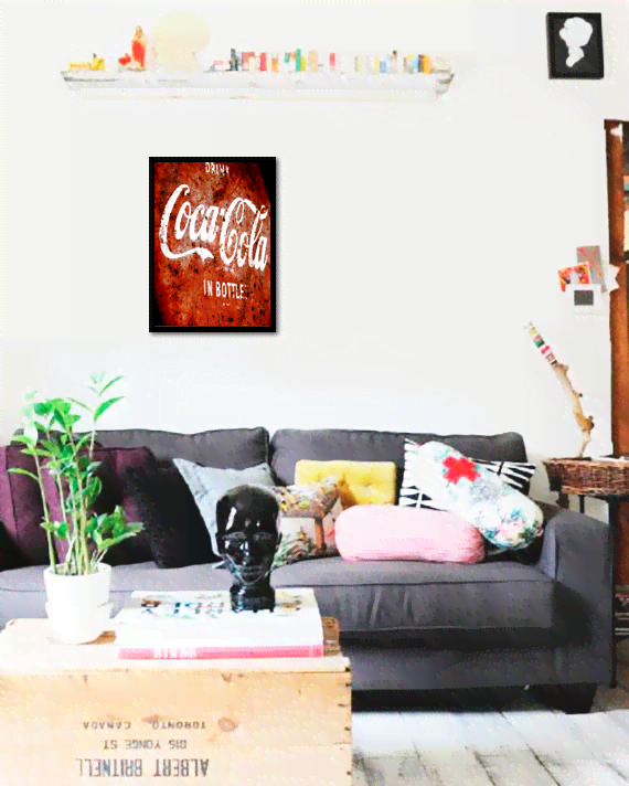 Quadro Poster Cozinha Drink Coca Cola In Bottles - comprar online