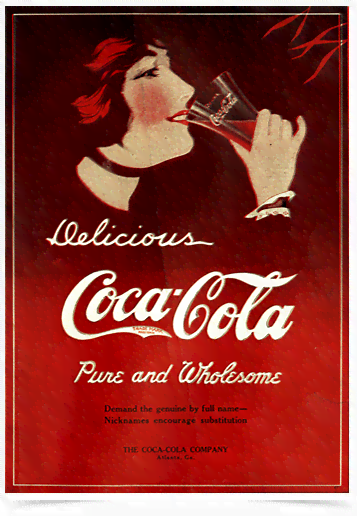 Poster Cozinha Delicious Coca Cola Pure And Wholesome