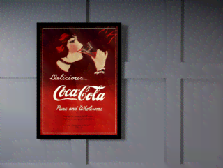 Quadro Poster Cozinha Delicious Coca Cola Pure And Wholesome na internet