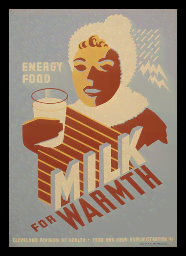Quadro Poster Cozinha Milk for Warmth Energy Food