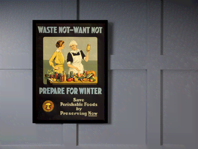 Quadro Poster Cozinha Waste Not Want Not Prepare for Winter na internet