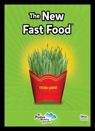 Quadro Poster Cozinha The New Fast Food String Bean