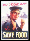 Quadro Poster Guerra Do Your Bit Save Food