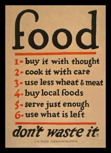 Quadro Poster Guerra Food Dont Waste It