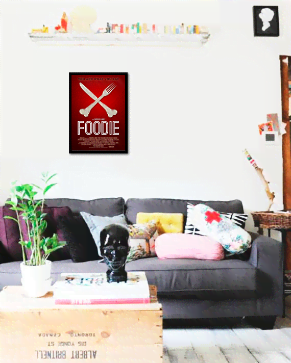 Quadro Poster Cinema Foodie  - comprar online