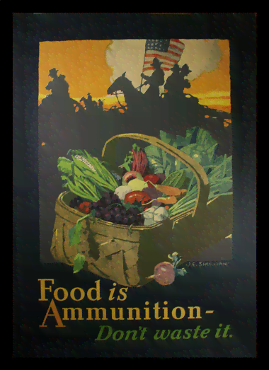Quadro Poster Guerra Food Is Ammunition