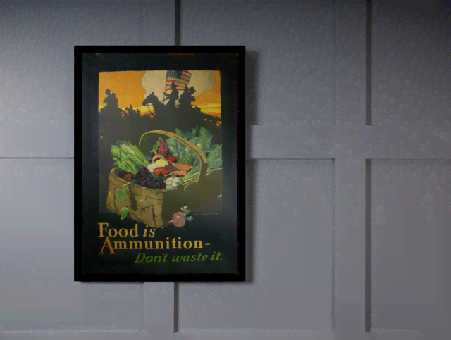 Quadro Poster Guerra Food Is Ammunition  na internet
