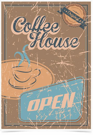 Poster Propaganda Coffee House Open