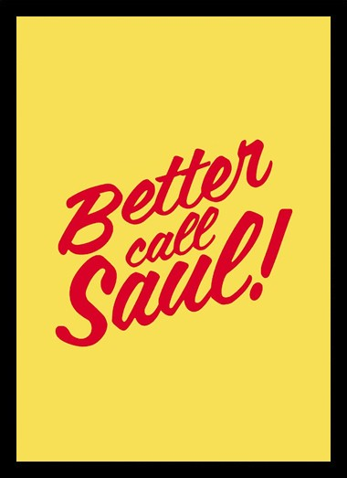 Quadro Poster Series Better Call Saul 3