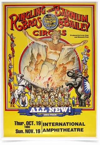 Poster Propaganda Ringling Bros All New