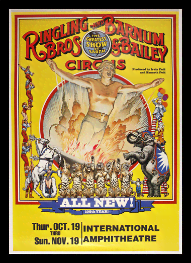 Quadro Poster Cinema Ringling Bros All New