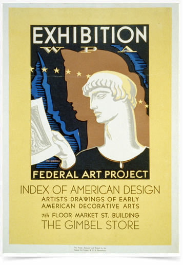 Poster Propaganda Federal Art Project American Design