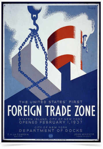 Poster Propaganda Foreign Trade Zone