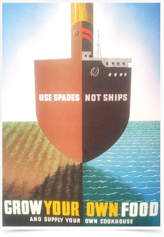 Poster Guerra Use Spades Not Ships