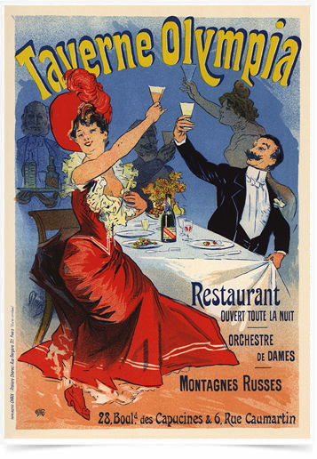 Poster The Belle Epoque Taverne Olympia
