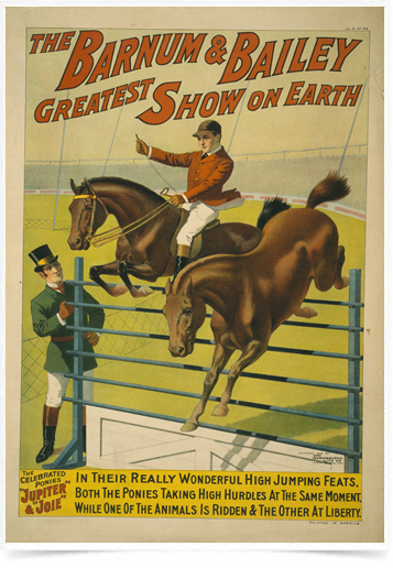 Poster Natureza The Barnum e Bailey Horse Show