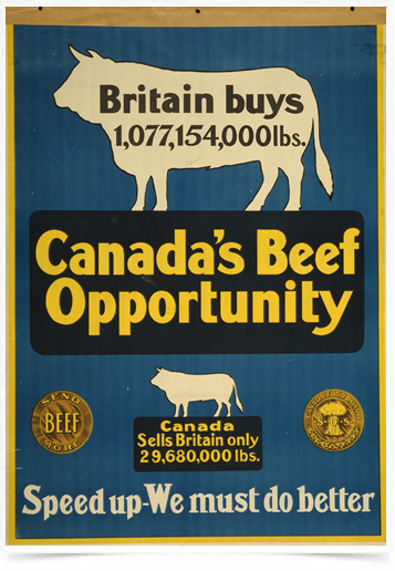 Poster Propaganda Canadas Beef Opportunity