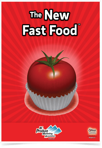 Poster Cozinha The New Fast Food Tomato