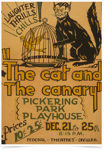 Poster Natureza The Cat and The Canary